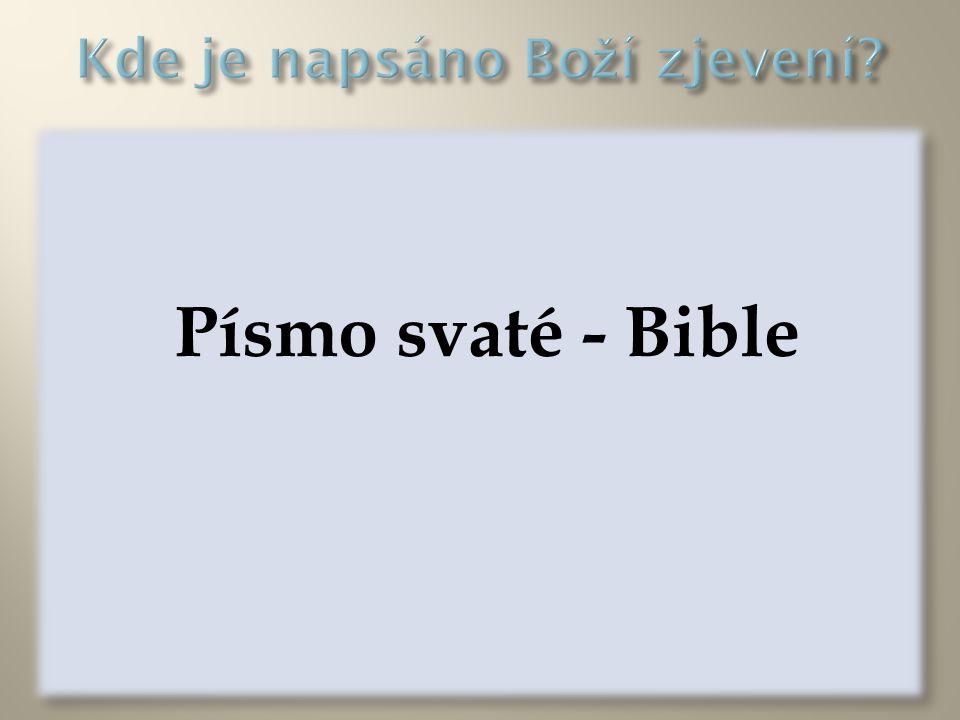 Kde je napsáno Boží zjevení