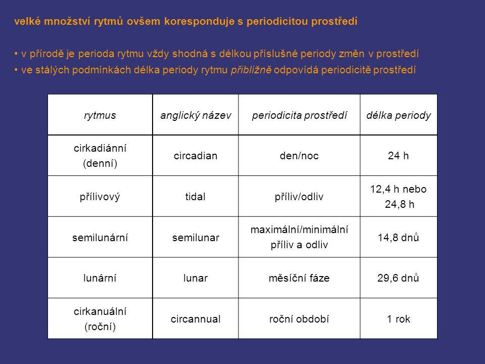 periodicita prostředí