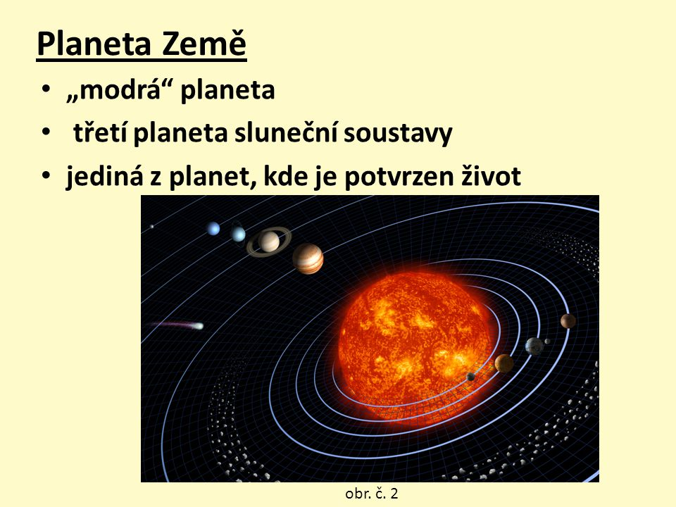 """Planeta Země """"modrá planeta třetí planeta sluneční soustavy"""