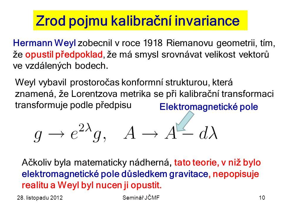 Zrod pojmu kalibrační invariance