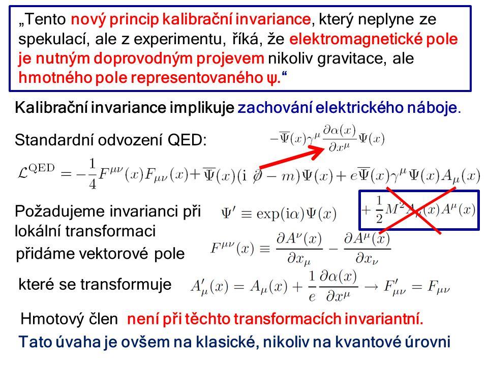 Kalibrační invariance implikuje zachování elektrického náboje.
