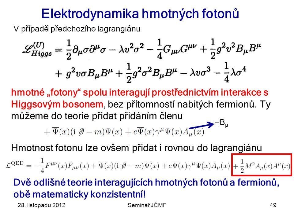 Elektrodynamika hmotných fotonů