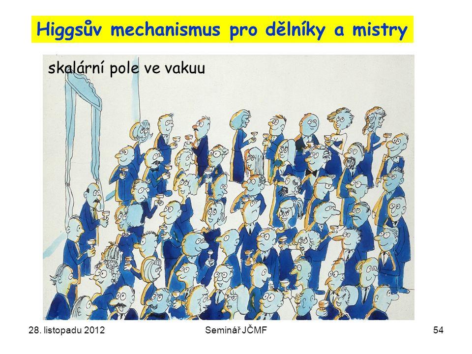 Higgsův mechanismus pro dělníky a mistry