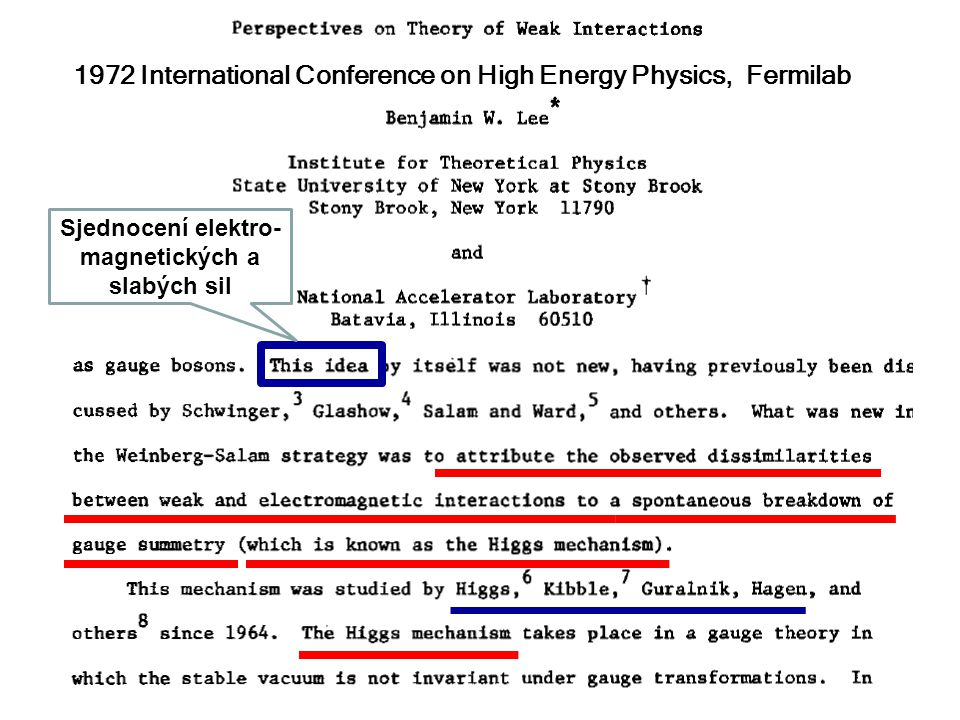 1972 International Conference on High Energy Physics, Fermilab