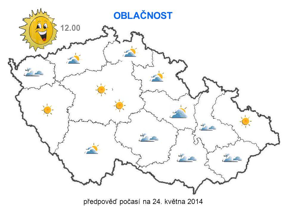 předpověď počasí na 24. května 2014