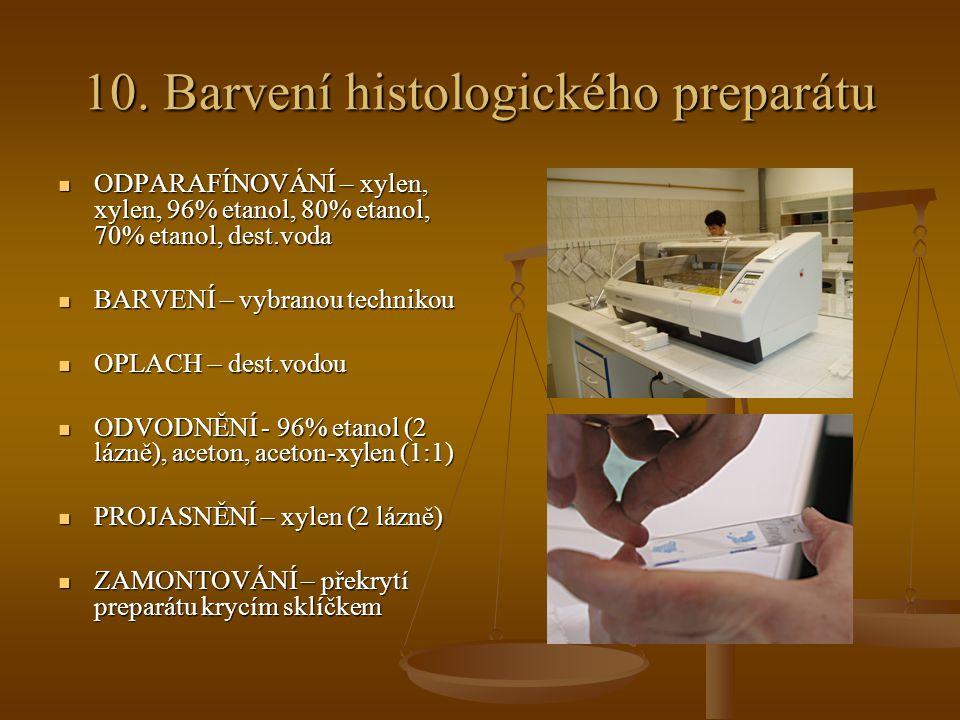 10. Barvení histologického preparátu