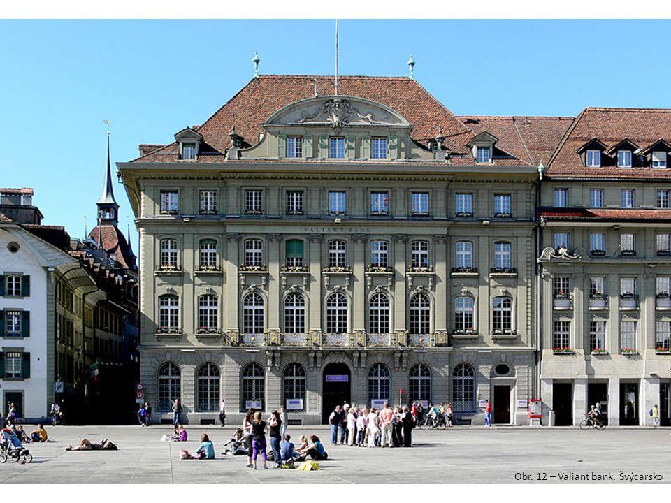 Obr. 12 – Valiant bank, Švýcarsko