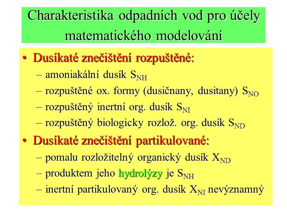 Charakteristika odpadních vod pro účely matematického modelování