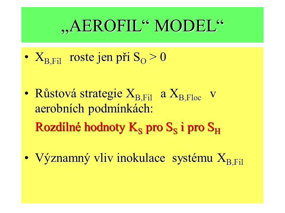 """""""AEROFIL MODEL XB,Fil roste jen při SO > 0"""