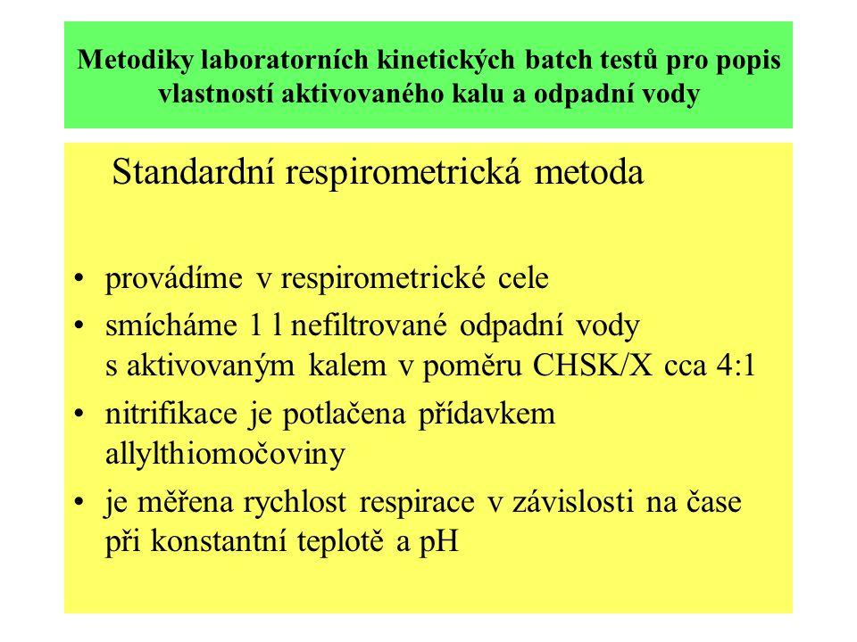 Standardní respirometrická metoda