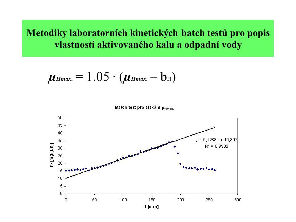 Metodiky laboratorních kinetických batch testů pro popis vlastností aktivovaného kalu a odpadní vody