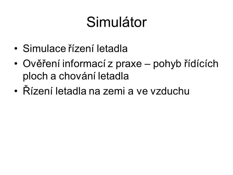Simulátor Simulace řízení letadla