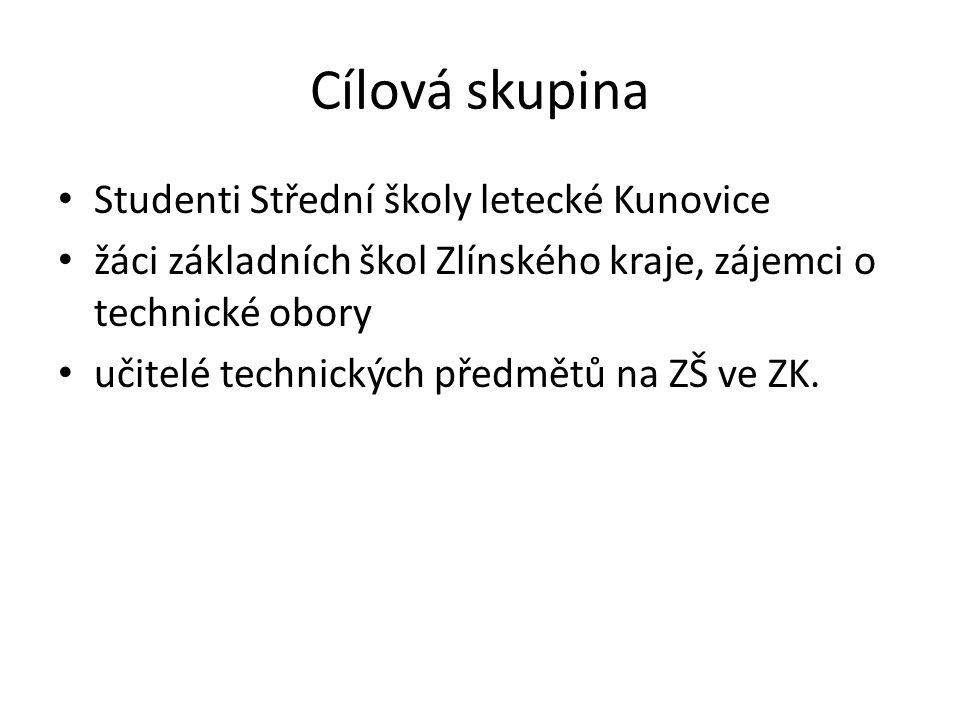 Cílová skupina Studenti Střední školy letecké Kunovice