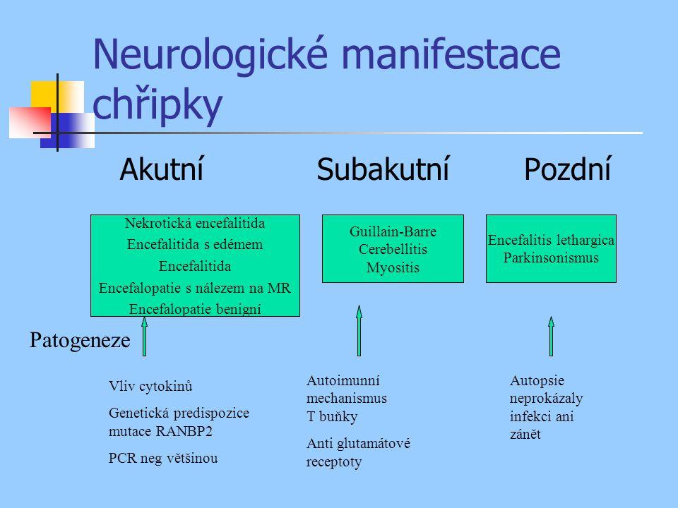 Neurologické manifestace chřipky