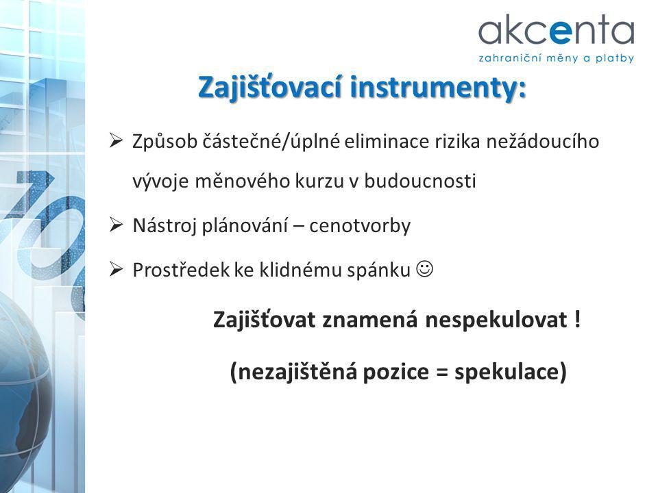 Zajišťovací instrumenty: