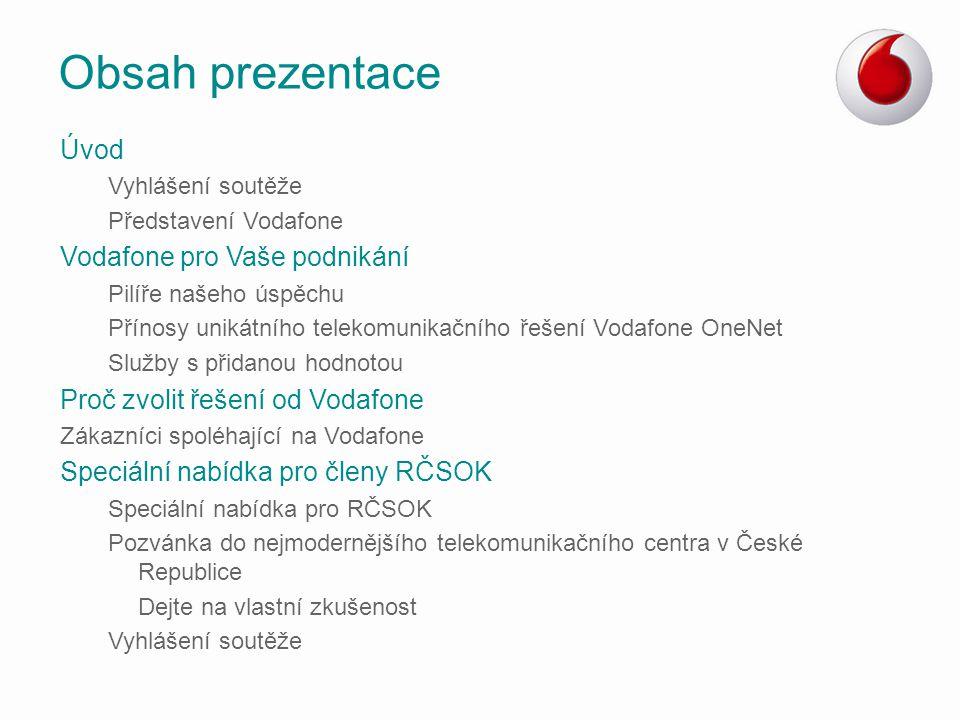 Obsah prezentace Úvod Vodafone pro Vaše podnikání