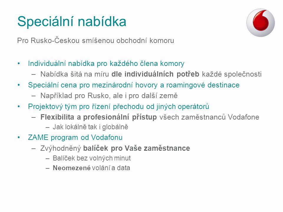 Speciální nabídka Pro Rusko-Českou smíšenou obchodní komoru
