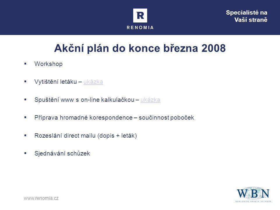 Akční plán do konce března 2008