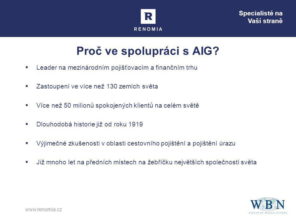 Proč ve spolupráci s AIG