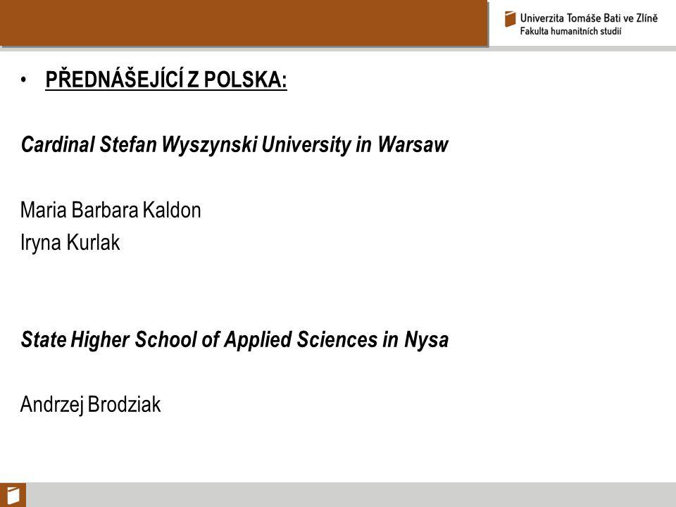Přednášející z POLSKA: