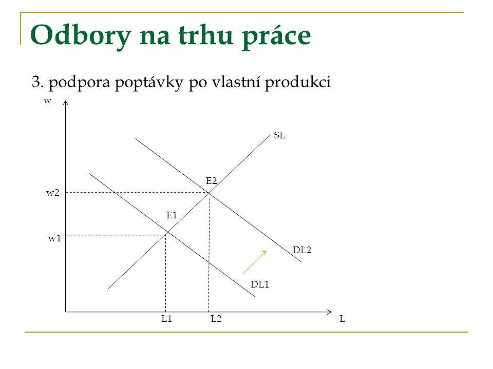 Odbory na trhu práce 3. podpora poptávky po vlastní produkci w SL E2