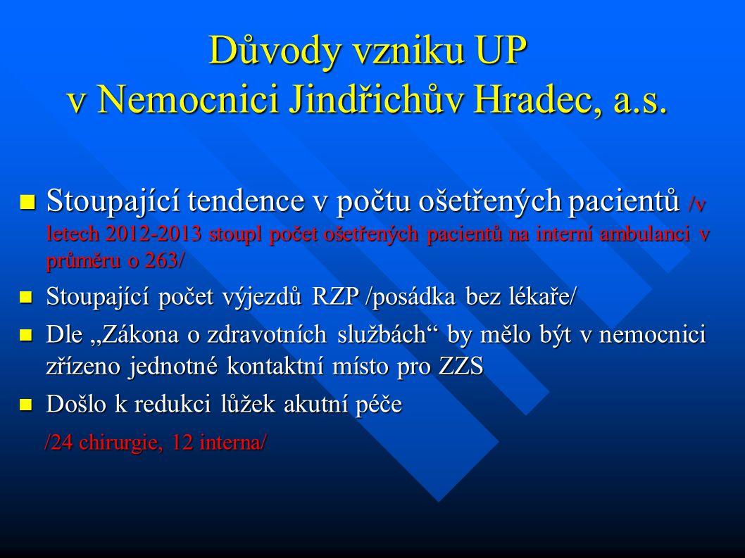 Důvody vzniku UP v Nemocnici Jindřichův Hradec, a.s.