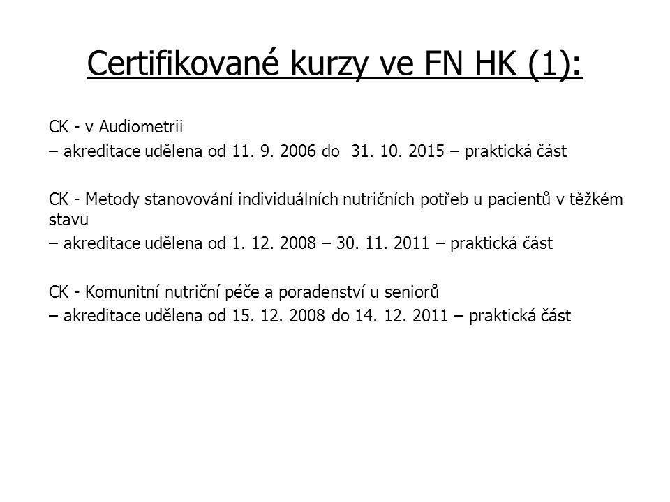 Certifikované kurzy ve FN HK (1):