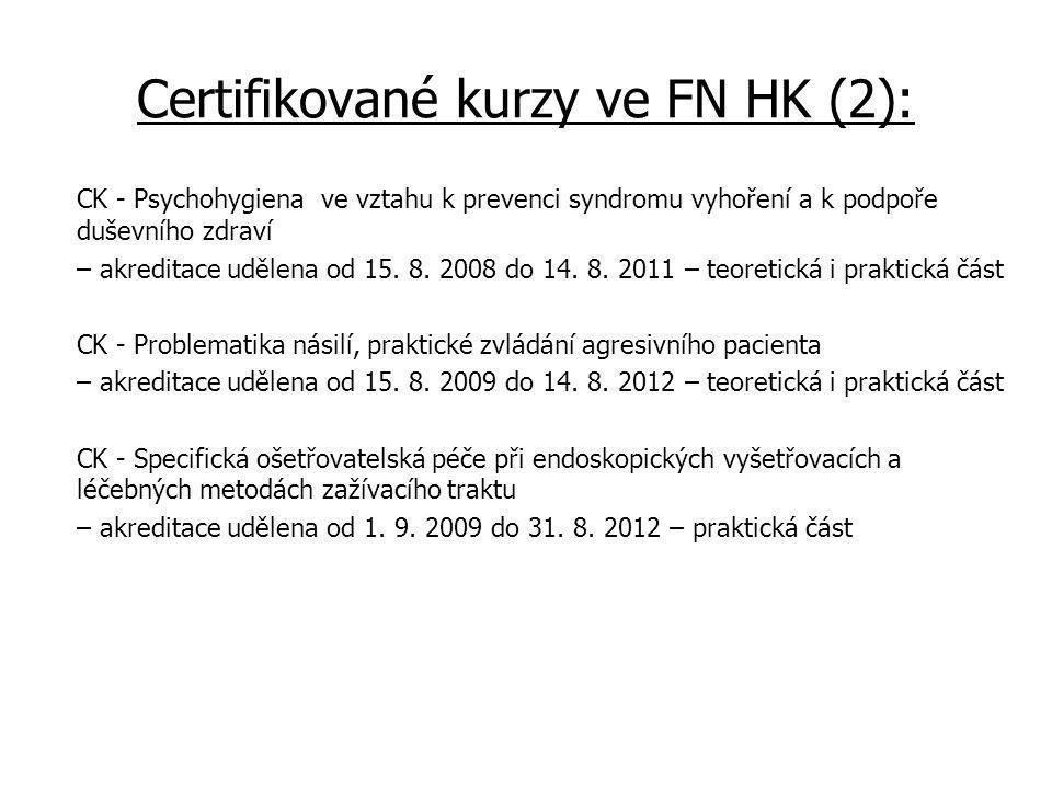 Certifikované kurzy ve FN HK (2):