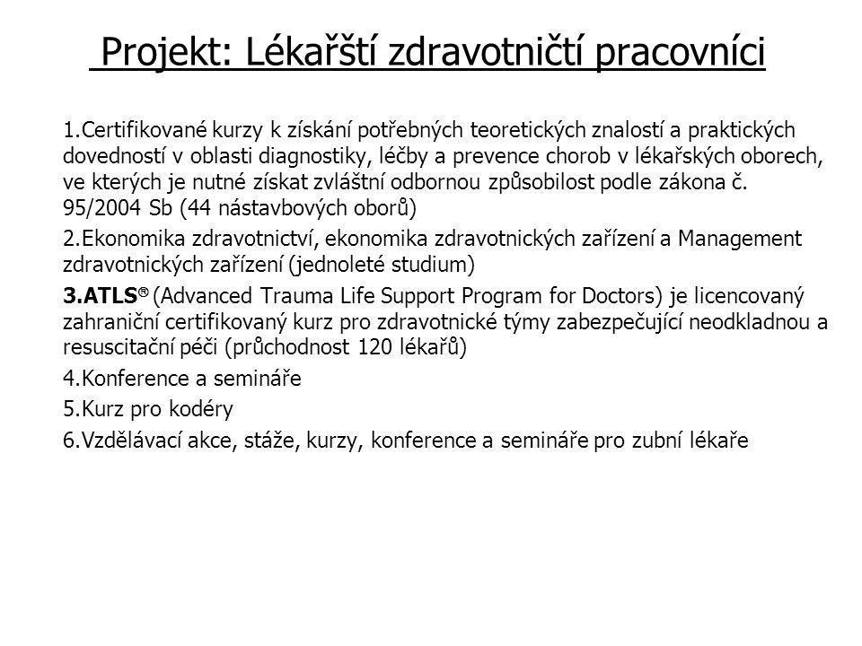 Projekt: Lékařští zdravotničtí pracovníci