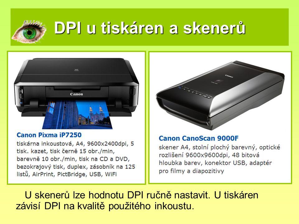 DPI u tiskáren a skenerů