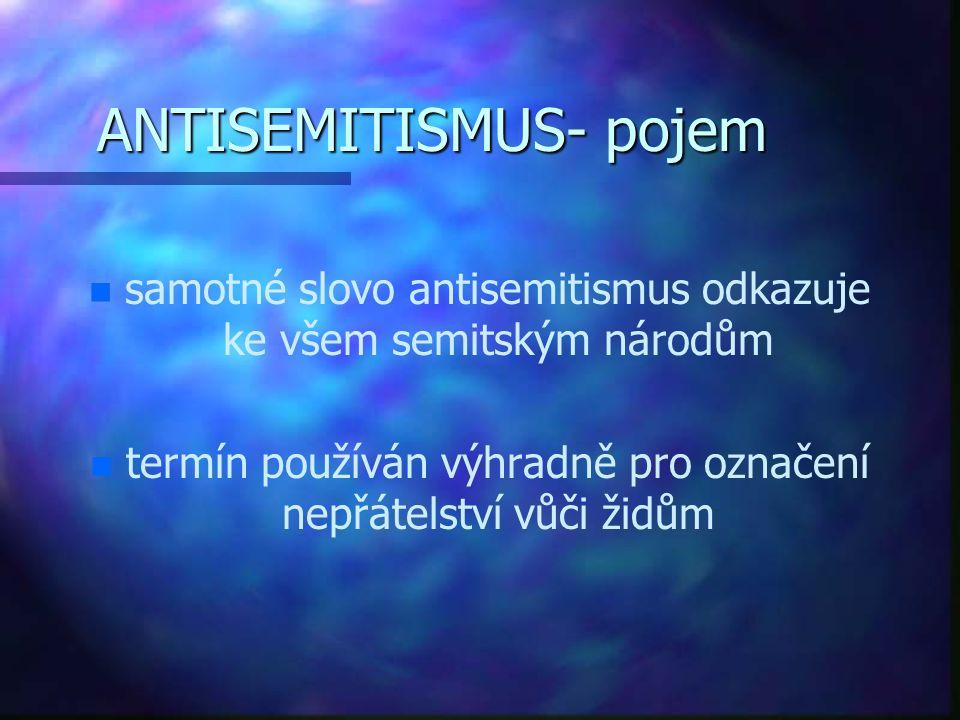 ANTISEMITISMUS- pojem