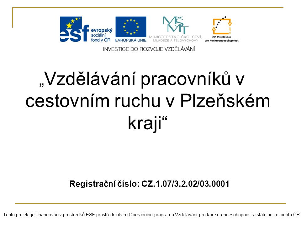 Registrační číslo: CZ.1.07/3.2.02/03.0001