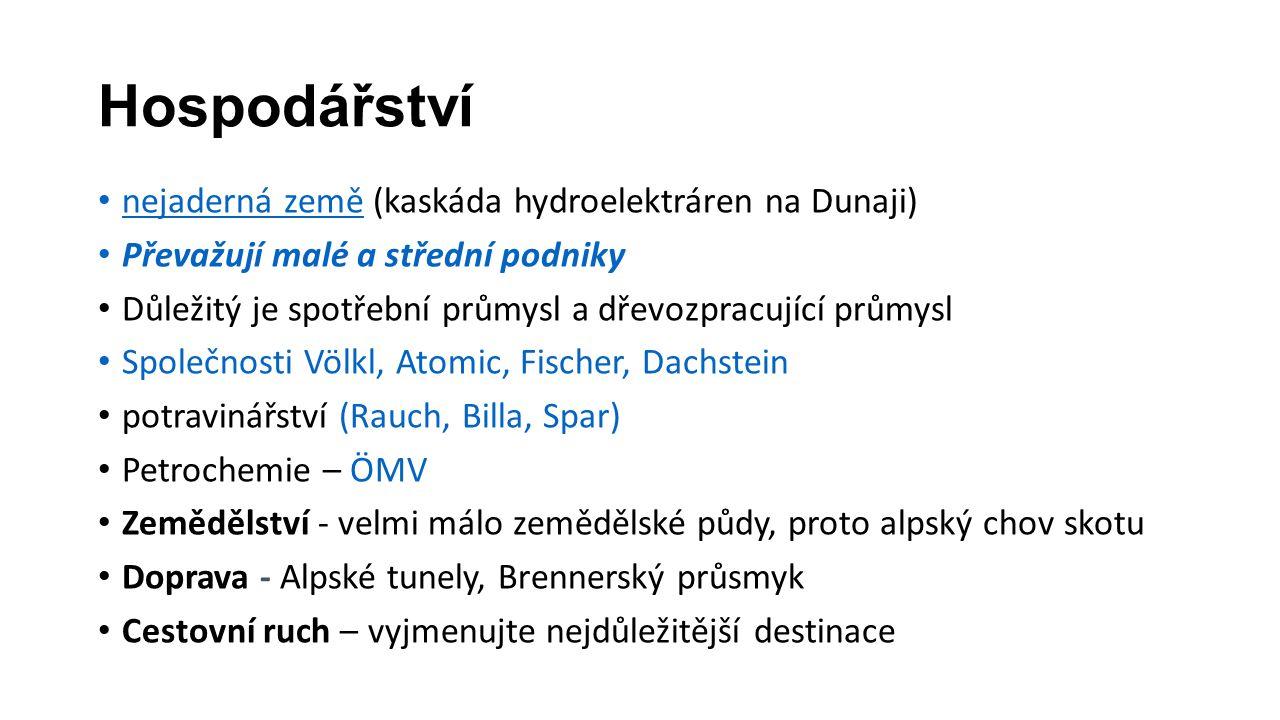 Hospodářství nejaderná země (kaskáda hydroelektráren na Dunaji)