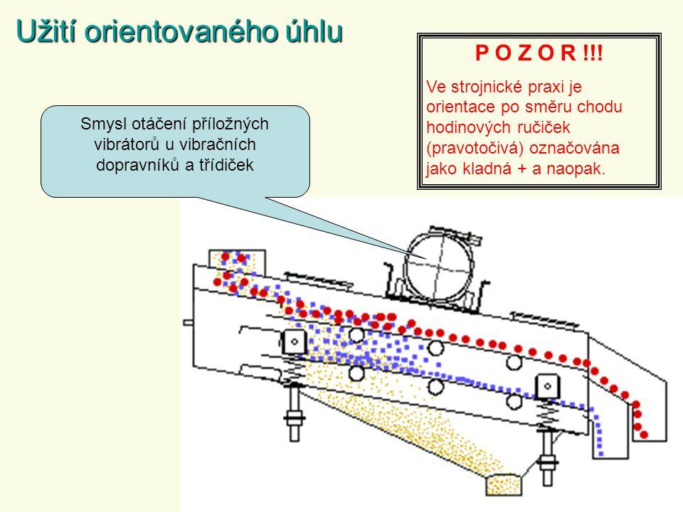Smysl otáčení příložných vibrátorů u vibračních dopravníků a třídiček