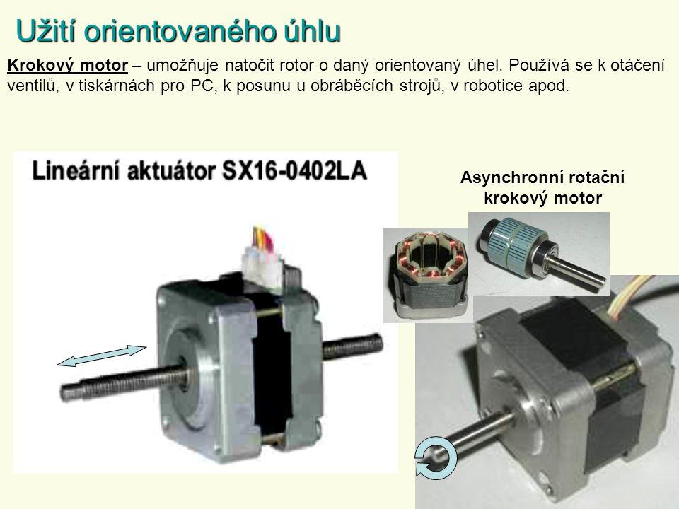 Asynchronní rotační krokový motor
