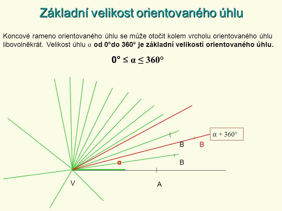 Základní velikost orientovaného úhlu