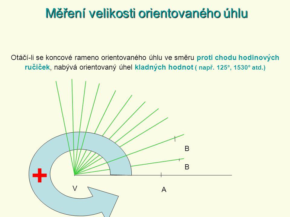 + Měření velikosti orientovaného úhlu