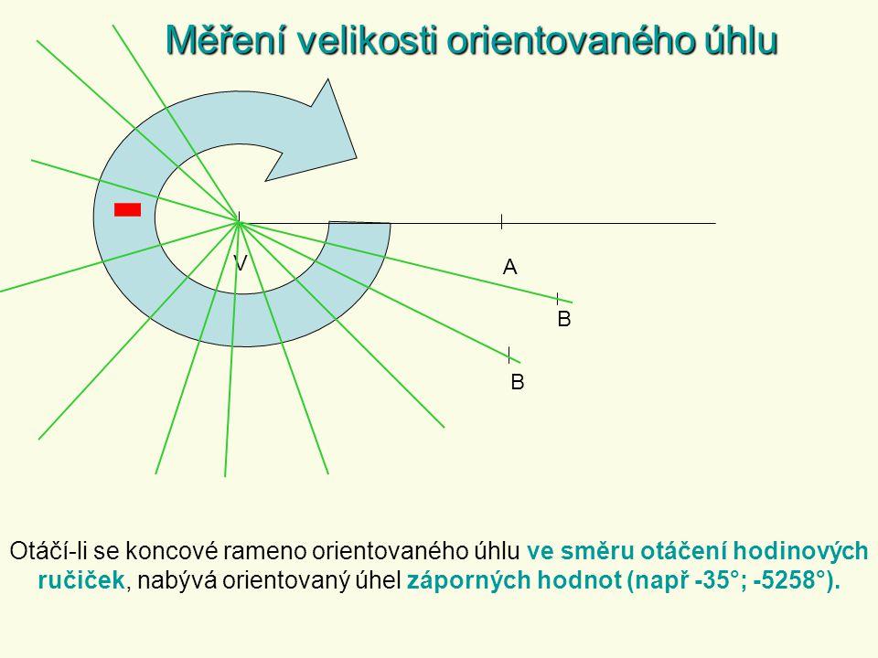 - Měření velikosti orientovaného úhlu