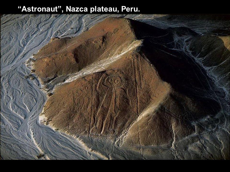 Astronaut , Nazca plateau, Peru.