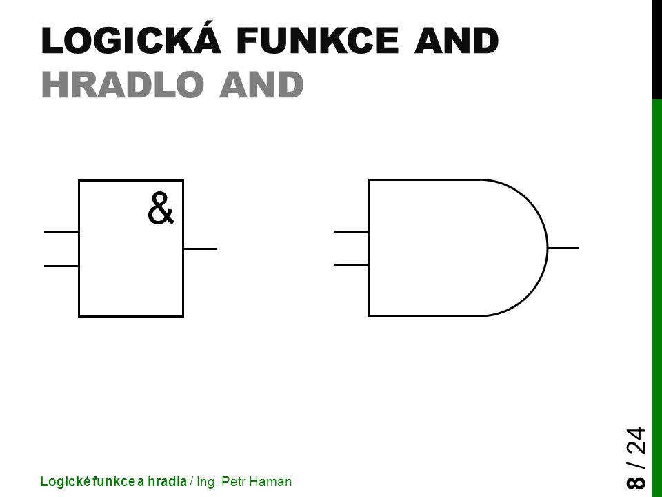 Logická funkce AND Hradlo And