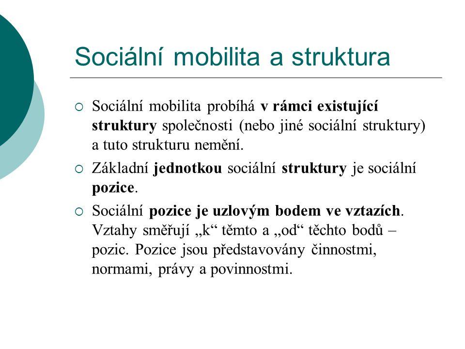 Sociální mobilita a struktura
