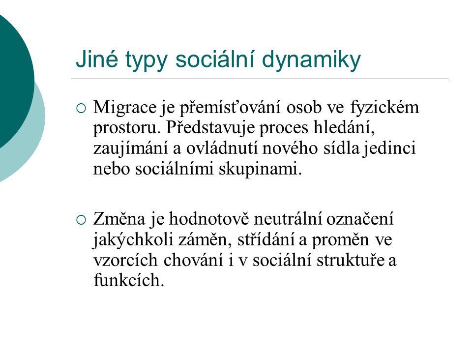Jiné typy sociální dynamiky