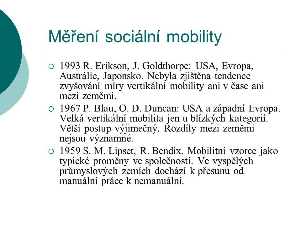 Měření sociální mobility