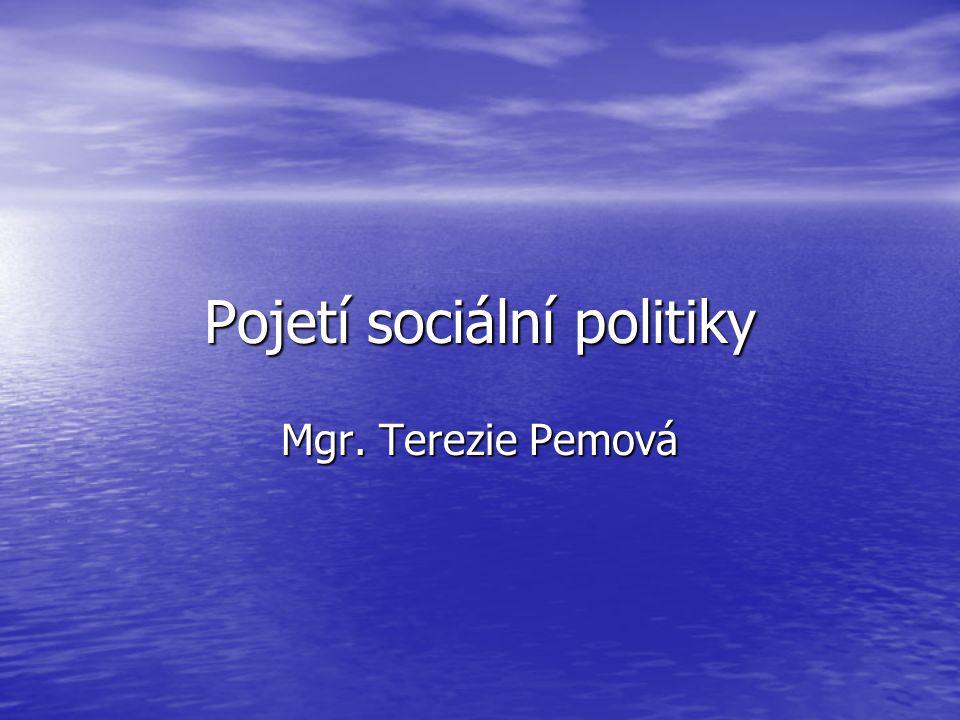 Pojetí sociální politiky