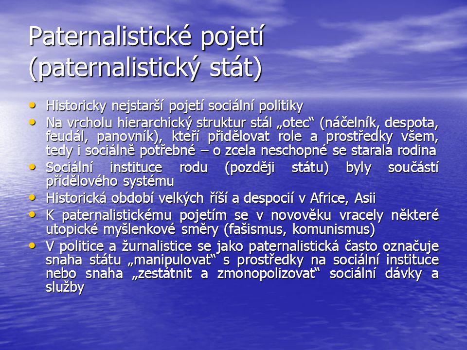 Paternalistické pojetí (paternalistický stát)