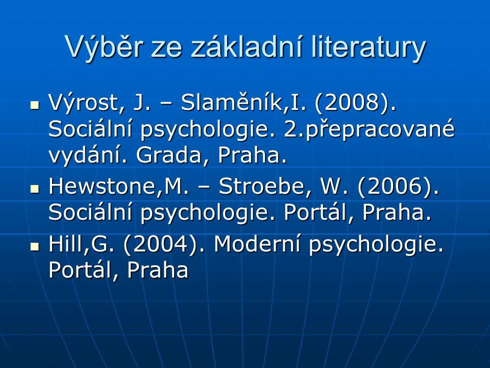Výběr ze základní literatury
