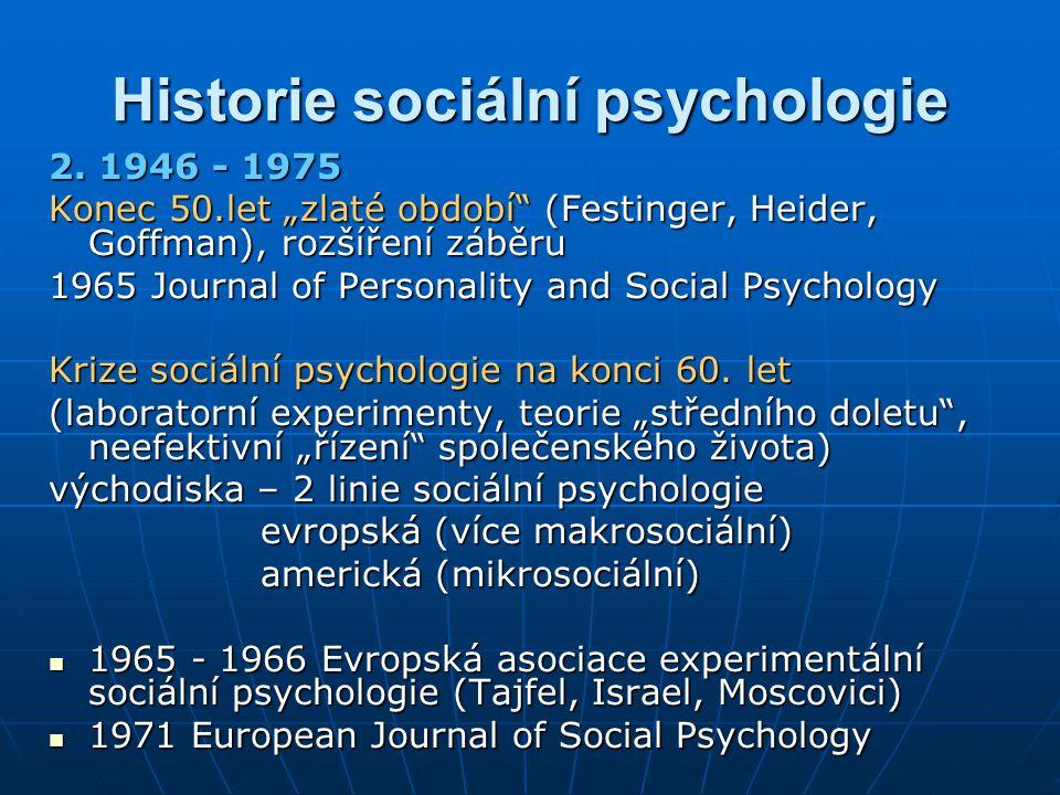 Historie sociální psychologie