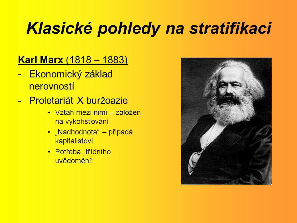 Klasické pohledy na stratifikaci