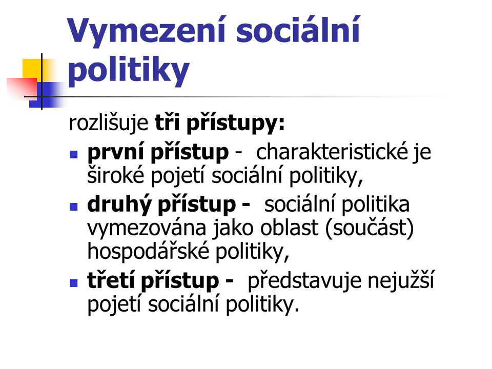 Vymezení sociální politiky