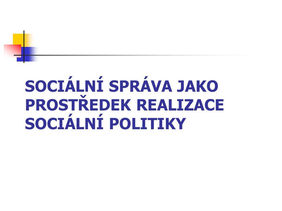 Sociální správa jako prostředek realizace sociální politiky